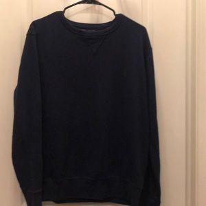 Navy polo crew neck sweater